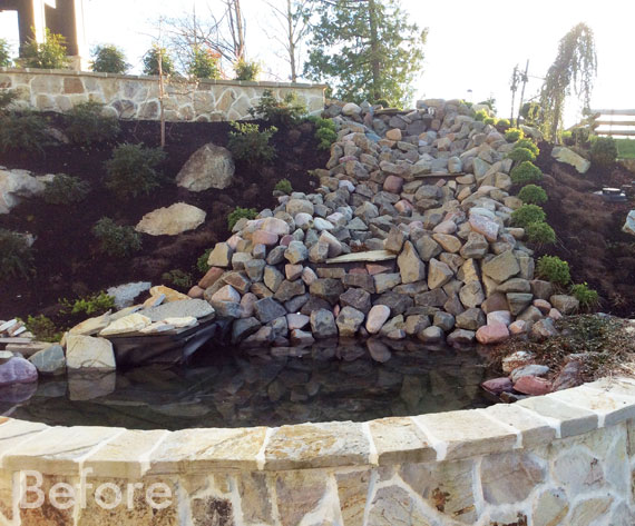 Before Water Features: Ponds, Waterfalls & Streams